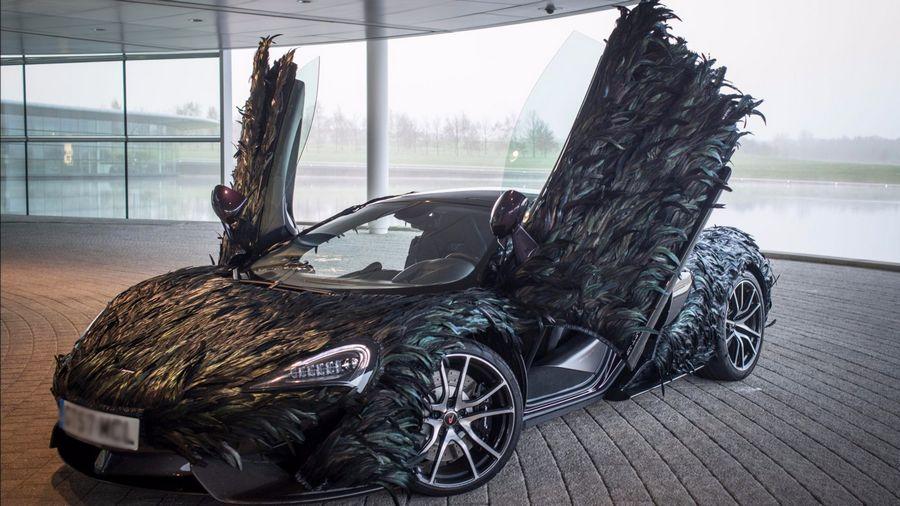 10.000 Bulu Burung Ditempel di Bodi Mobil Sport Selama 300 Jam Pakai Tangan, Begini Jadinya