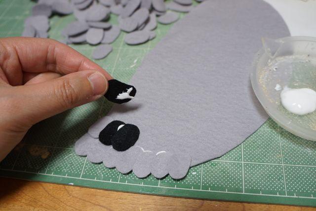 Membuat bulu sayap burung Merpati (Boredpanda.com)