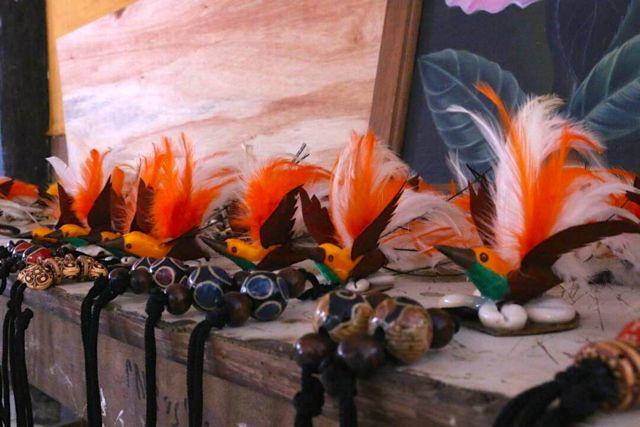 Kalung burung Cenderawasih imitasi (Asrida Elisabeth-Mongabay.co.id)