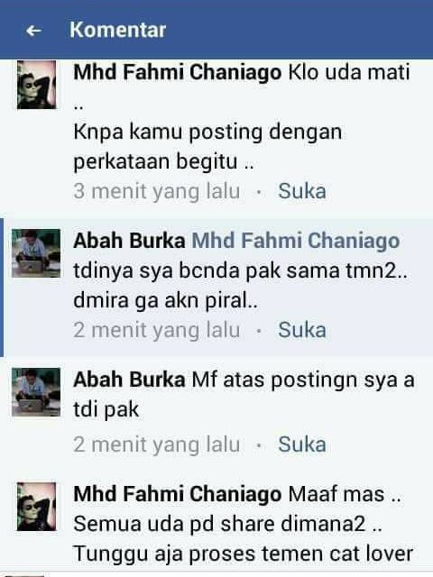 Komentar Abah Burka (facebook.com)
