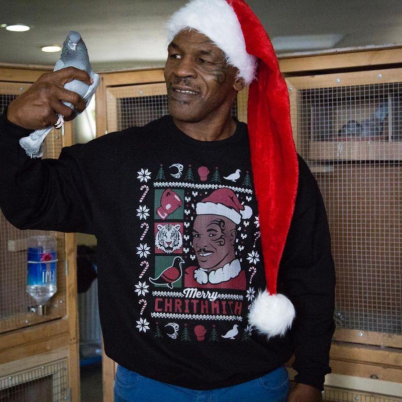 Mike Tyson menyukai burung Merpati balap (instagram.com)