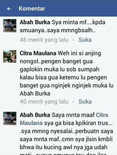 Permintaan maaf Abah Burka (facebook.com)
