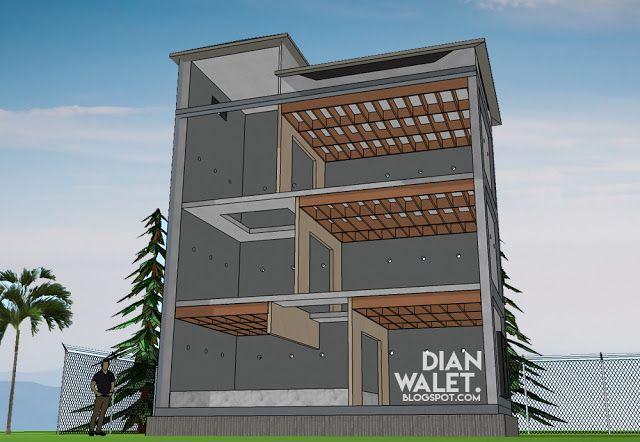 Desain interior rumah Walet sederhana (dianwalet.com)