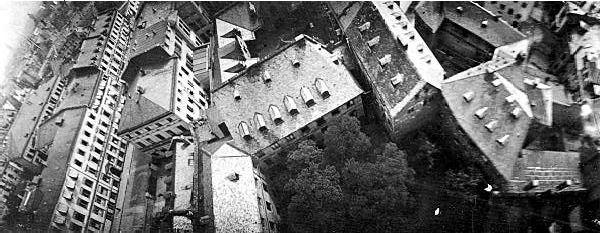 Jepretan foto aerial dari burung Merpati (publicdomainreview.org)