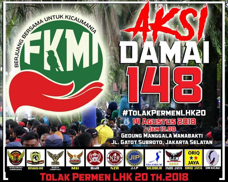 Aksi Damai 148 TolakPermenLHK20 FKMI (Omkicau.com)
