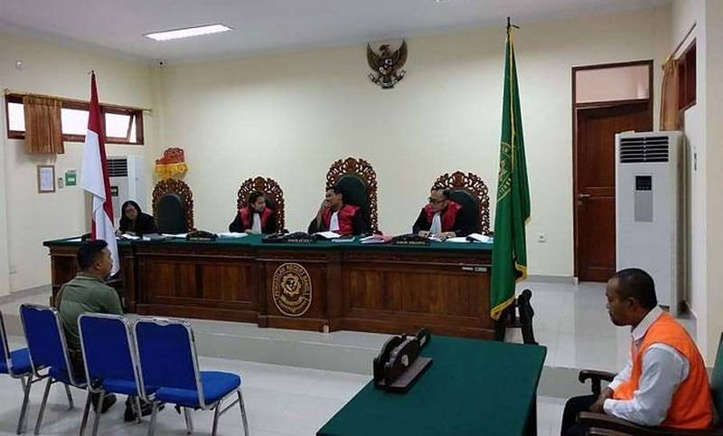 I Ketut Regen saat sidang kasus Jalak Bali (balipost.com)