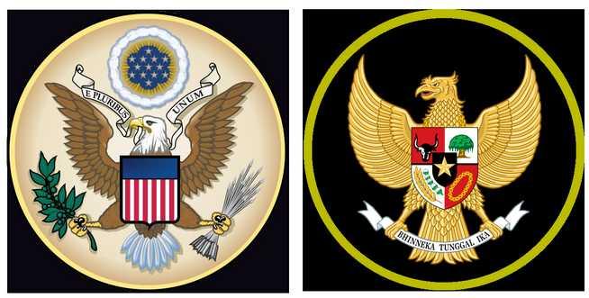 Lambang Negara Indonesia Mirip dengan Negara Amerika Serikat (yasirmaster.blogspot.com)