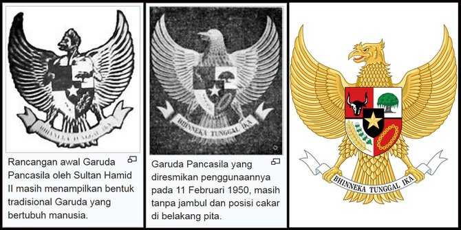 Perubahan Lambang Negara Burung Garuda (merdeka.com)