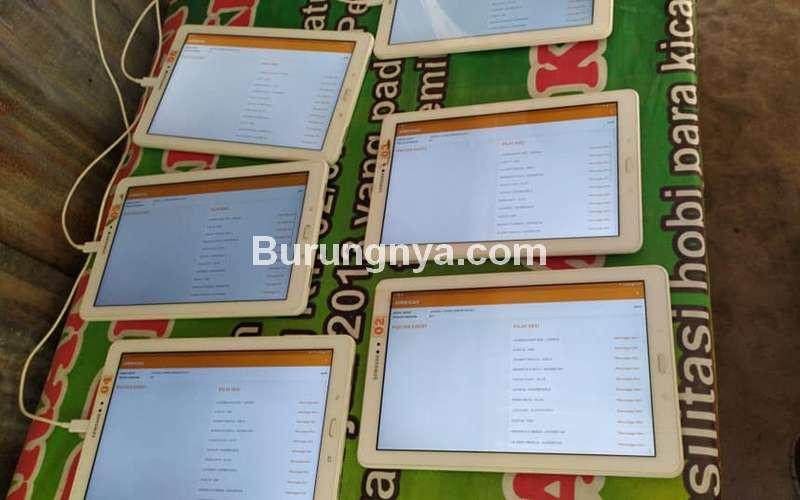 Tablet untuk Penilaian Lomba Burung dengan Aplikasi (Bonafide Indonesia Community)