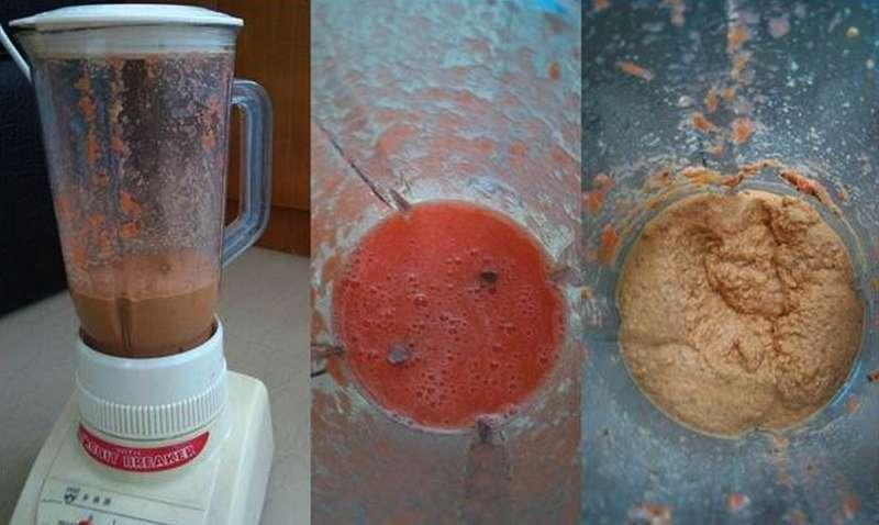 Bahan racikan makanan diblender sampai menjadi bubur (omkicau.com)