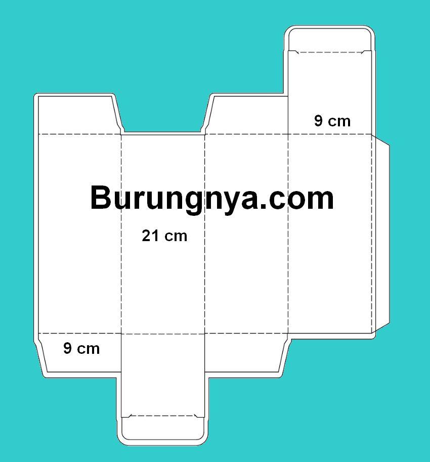 Skema Ukuran Kotak Burung dari Kardus atau Kertas Karton (burungnya.com)
