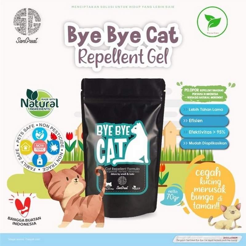 Cairan pengusir kucing bye bye cat (tokopedia.com)